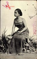 Een Soloosch meisje, Indonesien, Niederländisch Indien, Junges Mädchen