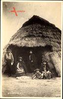 Ruca Mapuche, Chile oder Argentinien, Strohhütte, Indianer