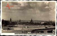 Dresden, Blick vom Waldschlösschen, Panorama, Hahn 7926