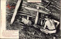 Au Pays Noir, veine moyenne, Bergbau unter Tage, Bergmänner, Kohleabbau