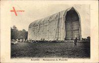 Aviation, Manoeuvres de Picardie, Zeppelinhalle, Halle des dirigéables
