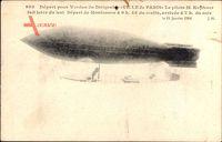 Départ pour Verdun du Dirigéable Ville de Paris, Kapferer, Montesson