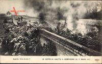 Le Zeppelin abattu à Compiègne le 17 Mars 1917, Abgestürzter Zeppelin