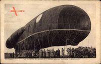 Camp de Mailly, Ballon aérostier militaire, Atterrissage, Militärballon