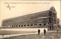 Hangar des Didigéables prenant part au Concours dAviation,22 au 29 Août 1909