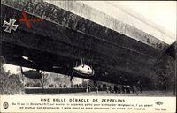 Une Belle Débacle de Zeppelins, 1917, L 49, Abgestürzter deutscher Zeppelin