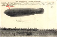 Dirigéable Ville de Nancy, Zeppelin über einem Landefeld