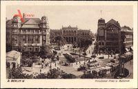 Berlin Tiergarten, Blick auf den Potsdamer Platz und Bahnhof, Straßenbahn