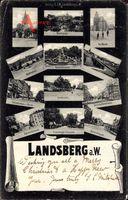 Gorzów Wielkopolski Landsberg Warthe Ostbrandenburg, Markt, Paukschbrunnen