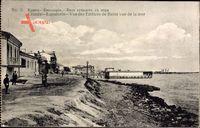 Jewpatorija Krim Ukraine, Vue des Edifices de Bains vue de la mer