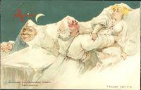 Nachtszene, Prähistorischer Ekkehard, Berggesichter, Killinger No 113