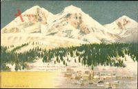 Davos und die Schiahörner, Aufgepasst Alter,Berggesichter,Killinger No 122