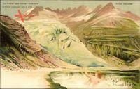 Die Rhône nach Süden enteilend, Gletscher, Berggesichter, Killinger No 120