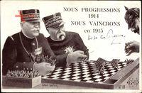 Nous Progressons 1914, Joffre, Guillaume II., Échecs, Schach