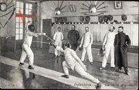 Infanterie Francaise, La salle darmes, Fechter, Mensur