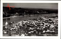 Coimbra Portugal, Parte Baixa, Fluss, Fliegeraufnahme