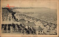 Sopot Gdańsk Zoppot Danzig, Kurgarten, Vogelschau, Strand