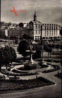 Kiew Ukraine, Kalinin Square, Platz, Fontäne, Grünanlagen