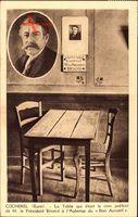 Cocherel Eure, Président Briand, LAuberge de Bon Accueil, Table