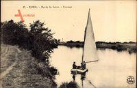 Rueil Malmaison Hauts de Seine, Bords de Seine, Paysage, Segelboot
