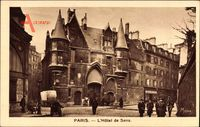 Paris, L'Hôtel de Sens, Straßenpartie, Passanten, Margarine Axa