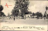 Semarang Indonesien, Bodjong en Karangtengah, Straßenpartie, Cafe