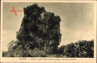 Ha Tien Vietnam, Bonnet a poils, Chemin dans les grottes, Felsen