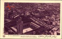 Marrakech Marokko, la grande Mosquee vu en avion, Fliegeraufnahme