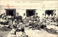 Safi Marokko, forgerons en plein vent, Schmiede bei der Arbeit, Esel