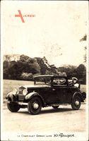 Le Cabriolet Grand Luxe 301 Peugeot, Automobil, Offenes Verdeck, Frau fährt