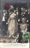 Paris, König Georg V. von England, Maria von Teck, Paris 1914