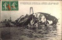 Catastrophe du Cuirasse la Liberté, 25 Sept 1911, Schiffswrack