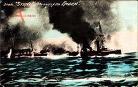 Australisches Kriegsschiff HMAS Sydney, SMS Emden, Seegefecht am 9 Nov 1914