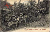 Nos Douaniers à la Frontière, Une Embuscade, Schmuggler, Zollbeamte, Hunde
