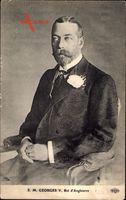 König Georg V. von England, Sitzportrait, Ansteckblume