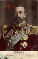 König Georg V. von England, Portrait, Uniform, Orden