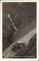 Motoring in Lakeland, Climbing Buttermere Hause, Automobil im Gebirge
