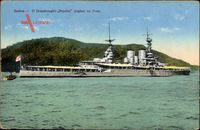 Santos Brasilien, Dreadnought, HMS Repulse im Hafen