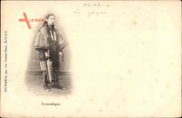 Domestique, Japaner oder Chinese, Standportrait in Tracht
