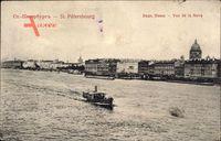 Sankt Petersburg Russland, Vue de la Neva, Dampfschiff auf dem Fluss