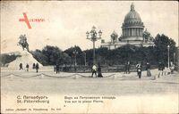 Sankt Petersburg Russland, Vue sur la place Pierre, Reiterstandbild