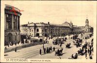Sankt Petersburg Russland, Perspective de Newski, Straßenpartie, Kutschen