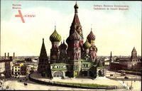 Moskau Russland, Basilius Kathedrale auf dem Roten Platz