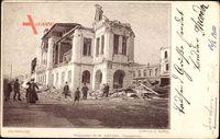 Valparaíso Chile, Circulo Naval, zerstörte Straßenpartie nach Erdbeben