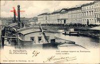 Sankt Petersburg Russland, Institut Catherine, Flusspartie, Boote