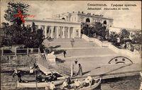 Sebastopol Ukraine, Debarcadere du Comte, Ruderboote, Treppe