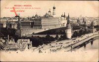 Moskau Russland, Vue generale du Kremlin, Blick auf den Kreml