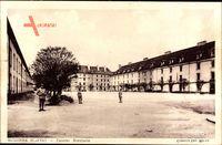 Auxonne Côte d'Or, Caserne Bonaparte, Hof der Kaserne, Soldaten
