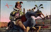 Nice Nizza Alpes Maritimes, Carneval, Umzugswagen, Straßenbahn