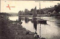 Morlaix Finistère, Pêcheurs sur la Rivière, Flusspartie